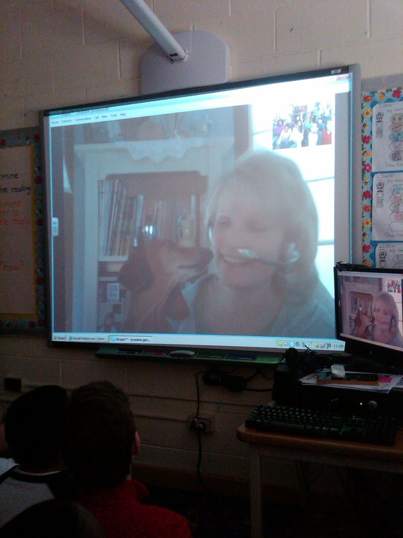 Skype visit with NY 4th graders